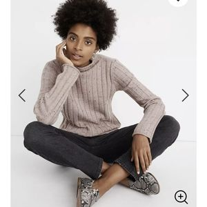 Madewell Donegal Evercrest Turtlenect Sweater NWT
